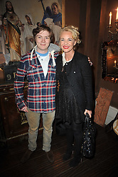 AMANDA ELIASCH and ALEX BARKER at a party to celebrate the publication of her new book - Kelly Hoppen: Ideas, held at Beach Blanket Babylon, 45 Ledbury Road, London W11 on 4th April 2011.