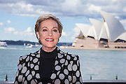 Julie Andrews visits Sydney, Australia for the first time. Julie attends a media conference ahead of her national tour of An Evening with Julie Andrews, The Park Hyatt, Sydney, Australia.