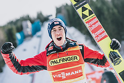 16.02.2020, Kulm, Bad Mitterndorf, AUT, FIS Ski Flug Weltcup, Kulm, Herren, im Bild Sieger Stefan Kraft (AUT) // Winner Stefan Kraft of Austria during the men's FIS Ski Flying World Cup at the Kulm in Bad Mitterndorf, Austria on 2020/02/16. EXPA Pictures © 2020, PhotoCredit: EXPA/ JFK