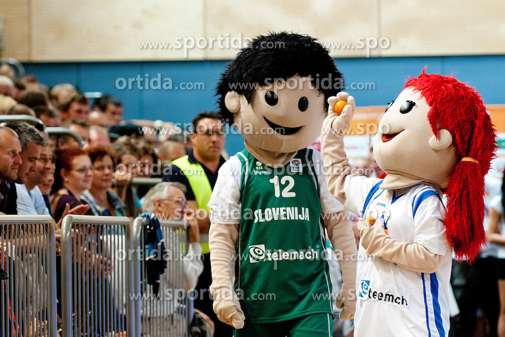 Mascots at exhibition game between Slovenia and Poland for Primus Trophy 2011Lithuania as part of exhibition games before European Championship L2011on July 23, 2011, in Ljudski Vrt, Ptuj, Slovenia. (Photo by Matic Klansek Velej / Sportida)
