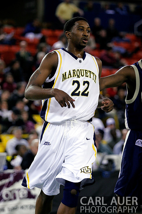 25 November 2005: Marquette Golden Eagle freshman guard, Jerel McNeal (22) in the Marquette University 73-70 victory over Oral Roberts University at the Great Alaska Shootout in Anchorage, Alaska