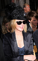 Kim Cattrall  at the Philip Treacy show  at London Fashion Week for Spring/Summer 2013, Saturday, 15th September 2012 Photo by: Stephen Lock / i-Images