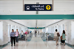 Interior of Dubai Metro station United Arab Emirates UAE