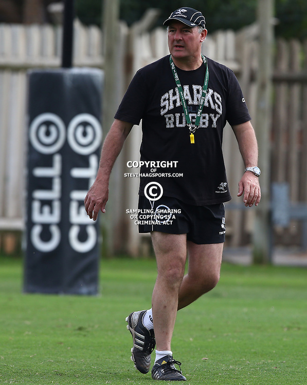 DURBAN, SOUTH AFRICA - JULY 09: Gary Gold (Sharks Director of Rugby) during the Cell C Sharks training session at Growthpoint Kings Park on July 09, 2015 in Durban, South Africa. (Photo by Steve Haag)
