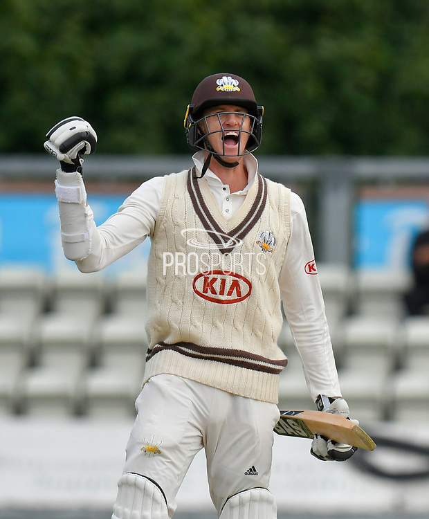Surrey are Champions - Morne Morkel of Surrey celebrates winning the County Championship during the final day of the Specsavers County Champ Div 1 match between Worcestershire County Cricket Club and Surrey County Cricket Club at New Road, Worcester, United Kingdom on 13 September 2018.