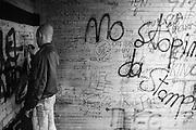 Nev graffitis wall, High Wycombe, UK, 1980s.