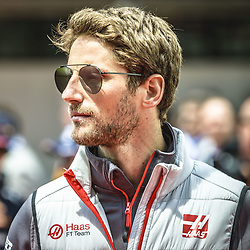 May 13, 2018 - Barcelona, Catalonia, Spain - ROMAIN GROSJEAN (FRA), Haas, is presented to the crowd prior the Spanish GP at Circuit de Barcelona - Catalunya (Credit Image: © Matthias Oesterle via ZUMA Wire)