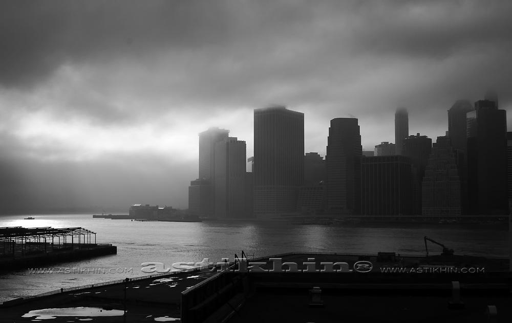 Rain on East River
