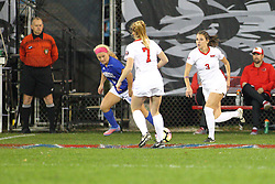 04 November 2016:  Kelli Zickert(7) & Kiley Czerwinski(3) during an NCAA Missouri Valley Conference (MVC) Championship series women's semi-final soccer game between the Indiana State Sycamores and the Illinois State Redbirds on Adelaide Street Field in Normal IL