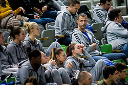 Slavko Duscak, assistant coach of Slovenian women basketball team during basketball match between KK Petrol Olimpija Ljubljana and Umana Reyer Venezia (ITA) in Round #5 of FIBA Basketball Champions League 2017/18, on November 7, 2017 in Arena Stozice, Ljubljana, Slovenia. Photo by Vid Ponikvar / Sportida
