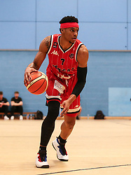 Justin Gray of Bristol Flyers dribbles with the ball - Photo mandatory by-line: Arron Gent/JMP - 28/04/2019 - BASKETBALL - Surrey Sports Park - Guildford, England - Surrey Scorchers v Bristol Flyers - British Basketball League Championship