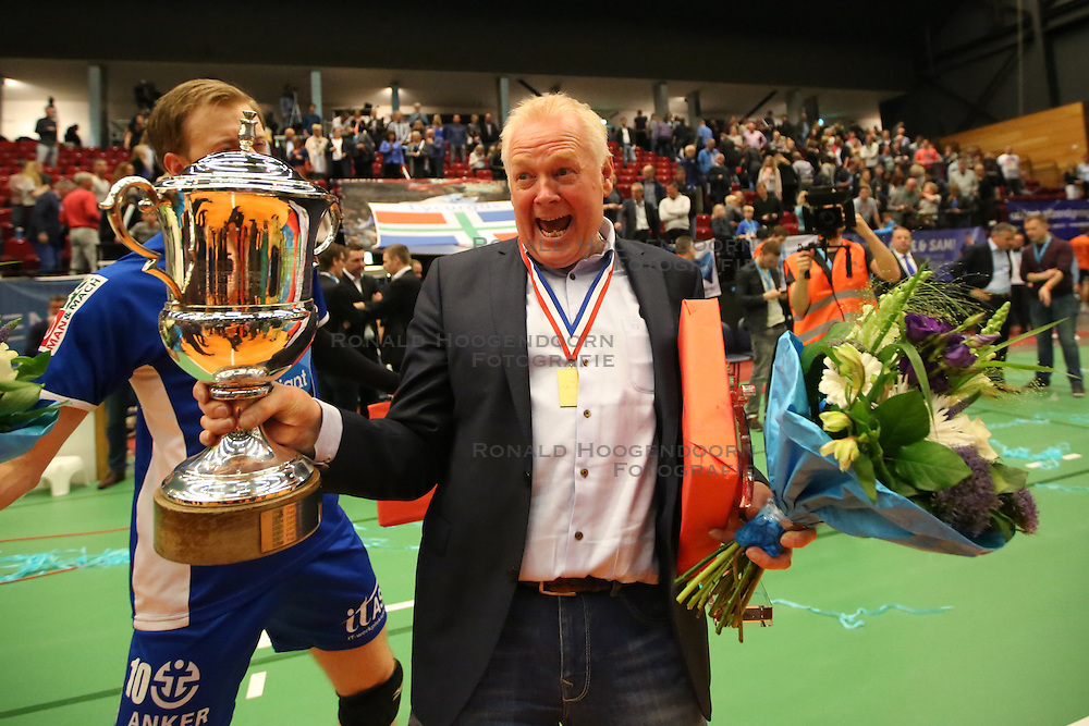 20160424 NED: Play off finale Abiant Lycurgus - Seesing Personeel Orion, Groningen<br />Willem Frieling, teammanager Abiant Lycurgus