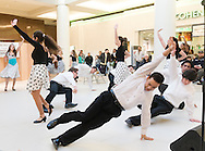"Town of Wallkill, New York - Newburgh Free Academy students perform a song from ""Nice Work If You Can Get It"" during the Orange County Arts Council's All-County High School Musical Showcase and Arts Display at the Galleria at Crystal Run on Feb. 27, 2016."