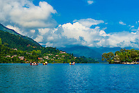 Tal Barahi Temple, on a small island in Phewa Lake, Pokhara, Nepal.