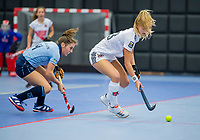 ROTTERDAM -   Lana Kalse (Adam) , dames Amsterdam-Laren  ,hoofdklasse competitie  zaalhockey.   COPYRIGHT  KOEN SUYK
