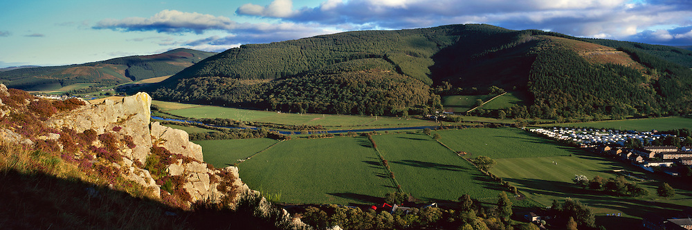 Overlooking the Tweed Valley towards Cademuir on a late afternoon in summer