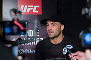 DALLAS, TX - MAY 10:  Eddie Alvarez speaks to the media during the UFC 211 Ultimate Media Day at the House of Blues Dallas on May 10, 2017 in Dallas, Texas. (Photo by Cooper Neill/Zuffa LLC/Zuffa LLC via Getty Images) *** Local Caption *** Eddie Alvarez