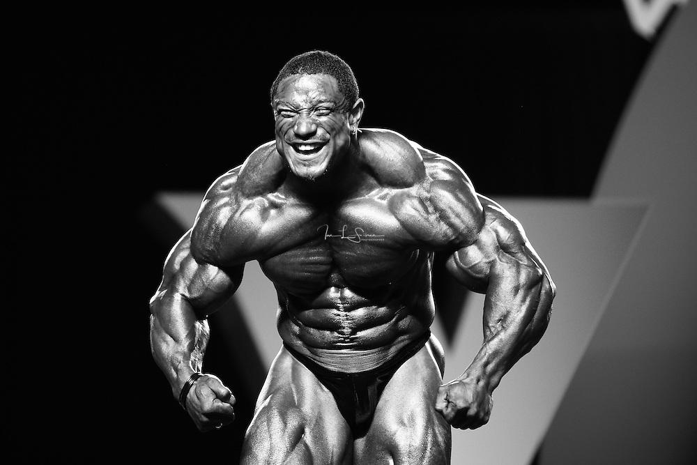 Roelly Winklaar competing at the 2010 Mr. Olympia finals in Las Vegas.