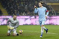 esultanza gol Lucas Biglia Lazio Goal celebration 0-2 <br /> Milano 31-01-2017 Stadio Giuseppe Meazza - Football Calcio Coppa Italia Inter - Lazio. Foto Image Sport / Insidefoto