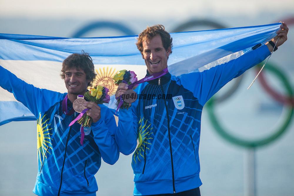 BRONZE:<br /> Calabrese Lucas, de la Fuente Juan, (ARG, 470 Men)<br /> <br /> 2012 Olympic Games <br /> London / Weymouth