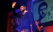Julian Speroni waves to his audience during The gloves are off. An Evening With Julian Speroni at  at Fairfields Hall, Croydon, United Kingdom on 20 January 2015. Photo by Michael Hulf.