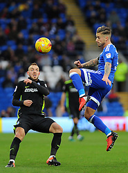 Joe Bennett of Cardiff City clears the ball - Mandatory by-line: Nizaam Jones/JMP - 03/12/2016 -  FOOTBALL - Cardiff City Stadium - Cardiff, Wales -  Cardiff City v Brighton and Hove Albion - Sky Bet Championship