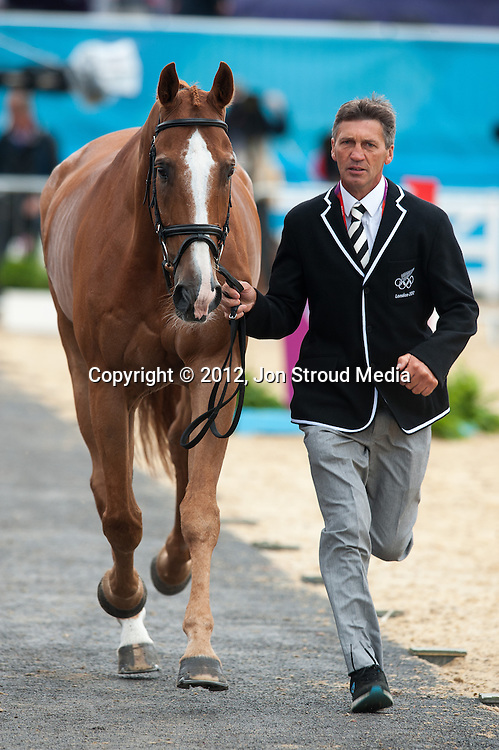 Andrew Nicholson (NZL) & Nereo - Final Horse Inspection - Eventing - London 2012 Olympic Games - Greenwich Park, London, United Kingdom -  31 July 2012