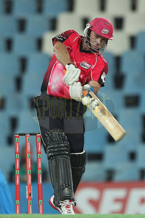 Michael Lumb of the Sydney Sixers during the 2nd semi final of the Karbonn Smart CLT20 South Africa between The Sydney SIxers and the The Titans held at Supersport Park in Centurion, Gauteng on the 26th October 2012..Photo by Ron Gaunt/SPORTZPICS/CLT20.