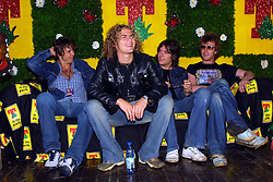 Toploader press conference, T in the Park, Balado, Fife, 8/7/2001..©2010 Michael Schofield. All Rights Reserved.