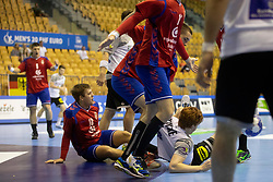Srdjan Mijatovic of Serbia during handball match between National teams of Serbia and Germany in Main Round of 2018 EHF U20 Men's European Championship, on July 25, 2018 in Arena Zlatorog, Celje, Slovenia. Photo by Urban Urbanc / Sportida