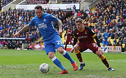 Lee Tomlin of Peterborough United turns away from Calum Woods of Bradford City - Mandatory by-line: Joe Dent/JMP - 09/03/2019 - FOOTBALL - Northern Commercials Stadium - Bradford, England - Bradford City v Peterborough United - Sky Bet League One