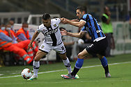 Parma Calcio's French defender Vincent Laurini tussles with Inter's Italian midfielder Roberto Gagliardini during the Serie A match at Stadio Ennio Tardini, Parma. Picture date: 28th June 2020. Picture credit should read: Jonathan Moscrop/Sportimage