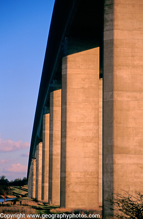 A753T9 Orwell bridge concrete support columns Suffolk England
