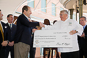 New Orleans Wine & Food Experience press conference; check presentation of charitable donations