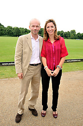 Guillaume Reslou and Marie Lagesse at a charity polo match organised by Jaeger Le Coultre was held at Ham Polo Club, Richmond, Surrey on 12th June 2009.