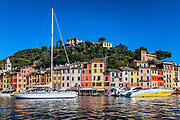 Picturesque harbor and village of Portofino, Liguria, Italy.