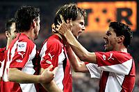 ◊Copyright:<br />GEPA pictures<br />◊Photographer:<br />Helmut Fohringer<br />◊Name:<br />Ivanschitz<br />◊Rubric:<br />Sport<br />◊Type:<br />Fussball<br />◊Event:<br />OEFB, WM Qualifikation, Laenderspiel, Oesterreich vs England, AUT vs ENG<br />◊Site:<br />Wien, Austria<br />◊Date:<br />04/09/04<br />◊Description:<br />Roland Kollmann, Andreas Ivanschitz, Dietmar Kuehbauer (AUT), Jubel<br />◊Archive:<br />DCSFH-040904527<br />◊RegDate:<br />04.09.2004<br />◊Note:<br />8 MB - BK/BK