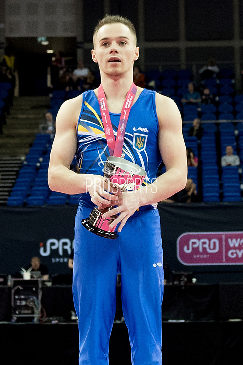 Oleg Verniaiev of the Ukraine (UKR) wins the World Cup  at the iPro Sport World Cup of Gymnastics 2017 at the O2 Arena, London, United Kingdom on 8 April 2017. Photo by Martin Cole.