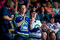 REGINA, SK - MAY 23: The Swift Current Broncos get an applause at the end of the game against the Regina Pats at the Brandt Centre on May 23, 2018 in Regina, Canada. (Photo by Marissa Baecker/CHL Images)