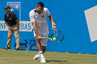 Tennis - 2017 Aegon Championships [Queen's Club Championship] - Day Three, Wednesday<br /> <br /> Men's Singles, Round of 16 -Viktor TROICKI (SRB) Vs Donald YOUNG (USA)<br /> <br /> Viktor Troicki (SRB) with a backhand return at Queens Club <br /> <br /> <br /> COLORSPORT/DANIEL BEARHAM