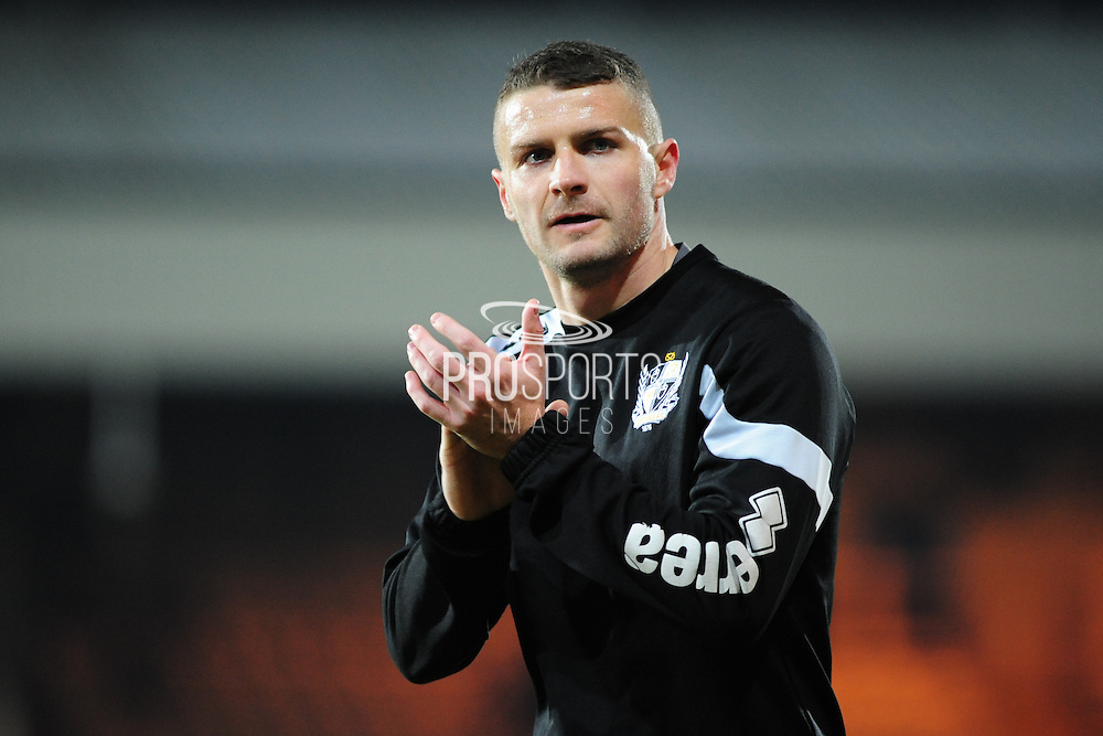 Carl Dickinson of Port Vale FC prior to the Sky Bet League 1 match between Port Vale and Southend United at Vale Park, Burslem, England on 26 February 2016. Photo by Mike Sheridan.