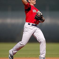 February 19, 2011; Fort Myers, FL, USA; Boston Red Sox shortstop Marco Scutaro (16) during spring training at the Player Development Complex.  Mandatory Credit: Derick E. Hingle