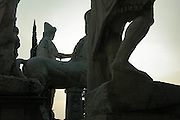 Rome, Italy, 2006-Massive statues on the Capitoline hill in Rome