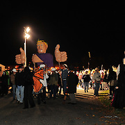 Portsmouth Halloween Parade, 2011. Participantts gather in the staging area on Pierce Island before the start of the parade.