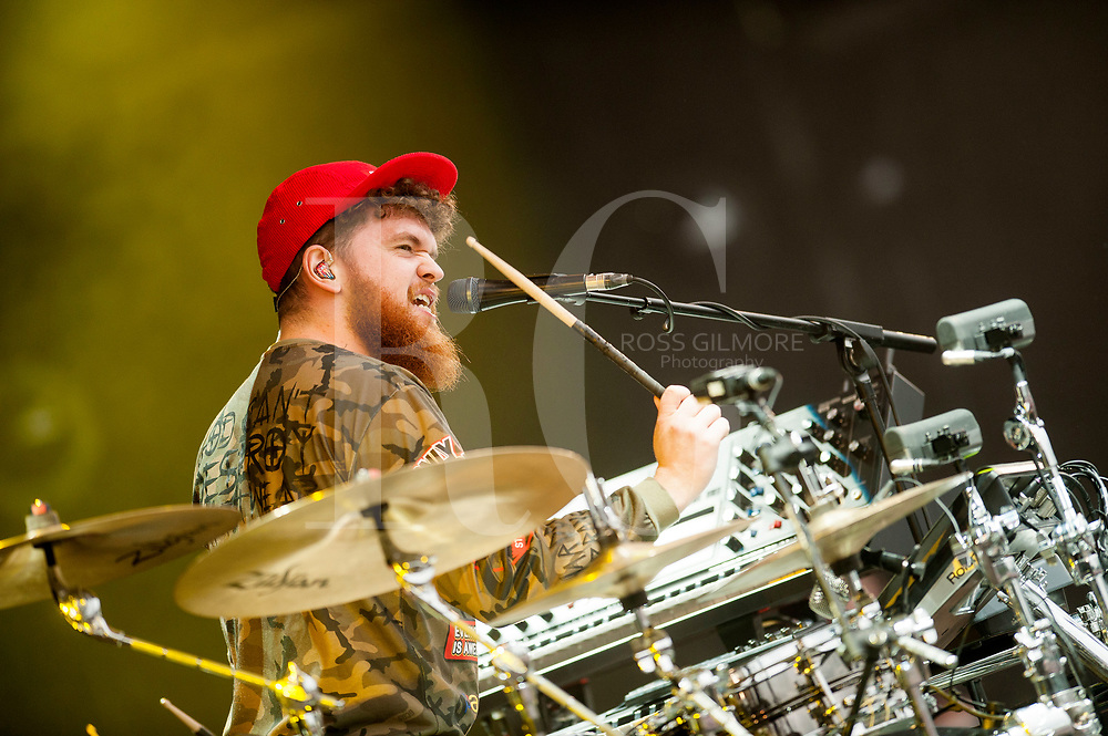 Jack Garratt performs on Day 2 of the T in the Park festival at Strathallan Castle on July 09, 2016 in Perth, Scotland.
