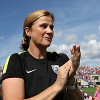 ORLANDO, FL - OCTOBER 25: Head coach Jill Ellis of the USWNT is seen during a women's international friendly soccer match between Brazil and the United States at the Orlando Citrus Bowl on October 25, 2015 in Orlando, Florida. (Photo by Alex Menendez/Getty Images) *** Local Caption ***  Jill Ellis