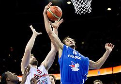 Marc Gasol of Spain vs Joakim Noah of France during final basketball game between National basketball teams of Spain and France at FIBA Europe Eurobasket Lithuania 2011, on September 18, 2011, in Arena Zalgirio, Kaunas, Lithuania. (Photo by Vid Ponikvar / Sportida)