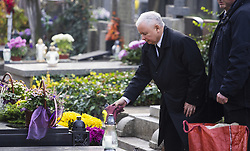 November 1, 2018 - Warsaw, Poland - Jaroslaw Kaczynski visited the family grave at the Powazki cemetery in Warsaw, Poland on 1st November, 2018. (Credit Image: © Krystian Dobuszynski/NurPhoto via ZUMA Press)