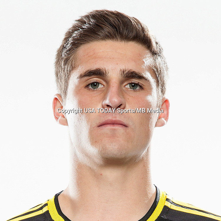 Feb 25, 2017; USA; Columbus Crew SC player Marshall Hollingsworth poses for a photo. Mandatory Credit: USA TODAY Sports