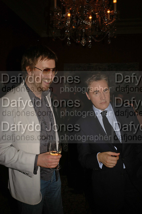 BEN WEAVER AND PETER YORK, Sir Peter Blake and Poppy De Villeneuve host a party with University of the Arts London at the Arts Club, Dover Street, London. 20 APRIL 2006<br />